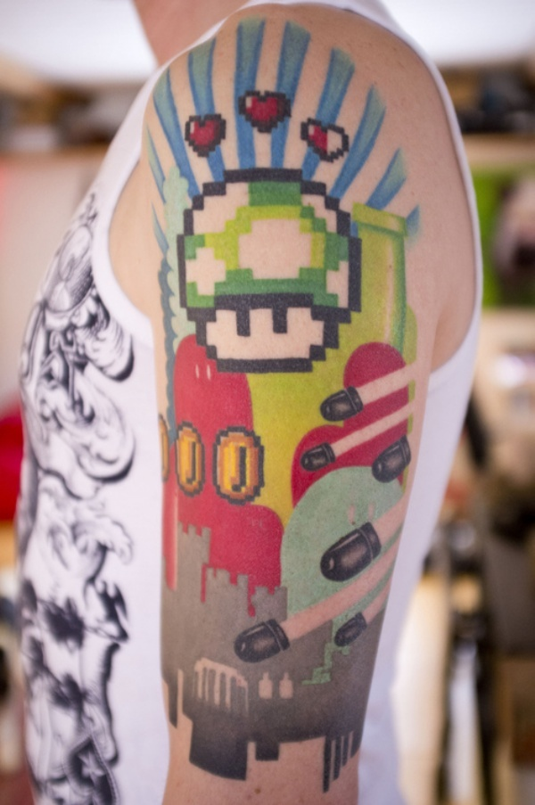 mario-sleeve-tattoo